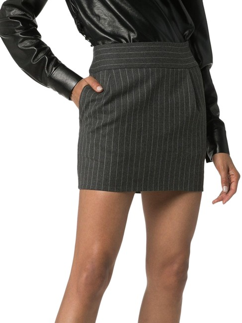 Item - Gray Pinstripe In Skirt Size 8 (M, 29, 30)