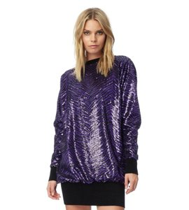 Item - Black and Purple 2019 Women's Sequin Sweater  Cocktail Dress
