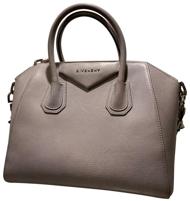 Item - Medium Antigona Grained Grey Leather Satchel