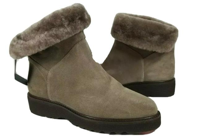 Item - Tan Suede Shearling Fur Lined Weatherproof Taupe Kaitlyn Boots/Booties Size US 8 Regular (M, B)