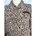Free People Brown The Day Leopard Print Jacket Poncho/Cape Size 12 (L) Free People Brown The Day Leopard Print Jacket Poncho/Cape Size 12 (L) Image 6
