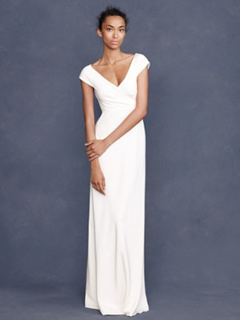 Item - Ivory Silk Style # 96230 Casual Wedding Dress Size 8 (M)