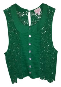 Plenty by Tracy Reese Top Emerald Green