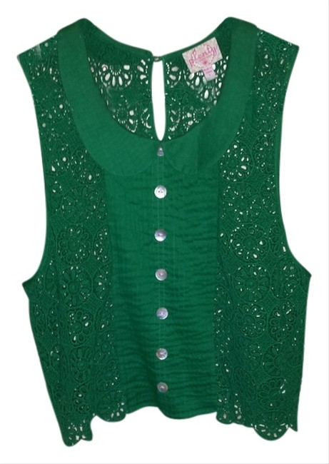 Preload https://img-static.tradesy.com/item/2837368/plenty-by-tracy-reese-emerald-green-tank-topcami-size-12-l-0-0-650-650.jpg