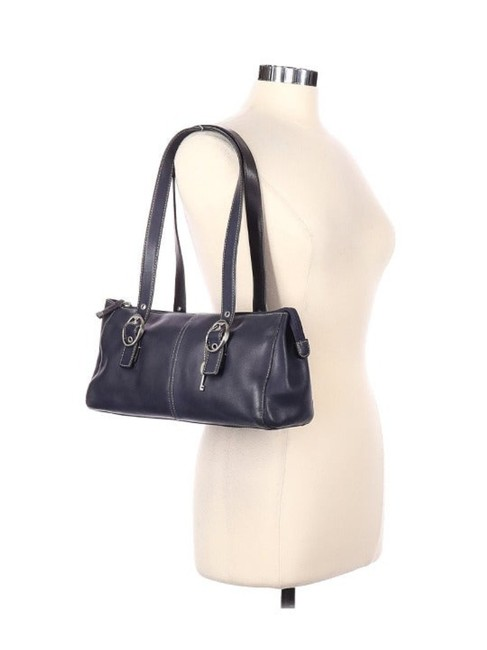 Item - With Charms Blue Leather Satchel