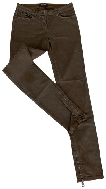 Item - Brown Coated Pants Skinny Jeans Size 4 (S, 27)