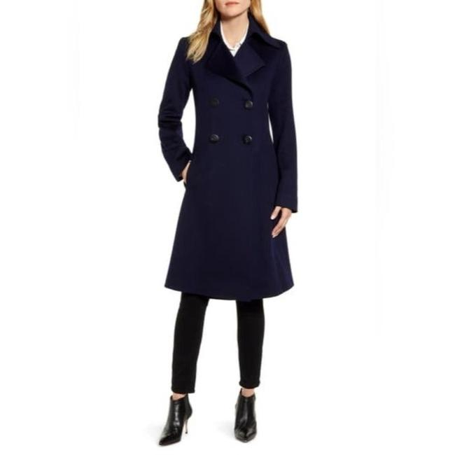 Item - Navy (Midnight) Double Breasted Wool Princess Coat Size 10 (M)