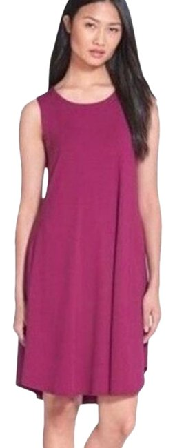 Item - Cerise Pink Hemp and Organic Cotton Knit Short Casual Dress Size Petite 6 (S)