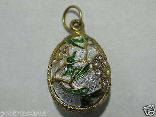 Other Faberge Egg Pendent St Petersburg Russia Enamel