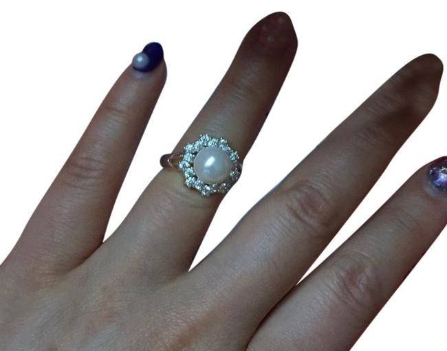 Item - Silver Pearl 8 Ring