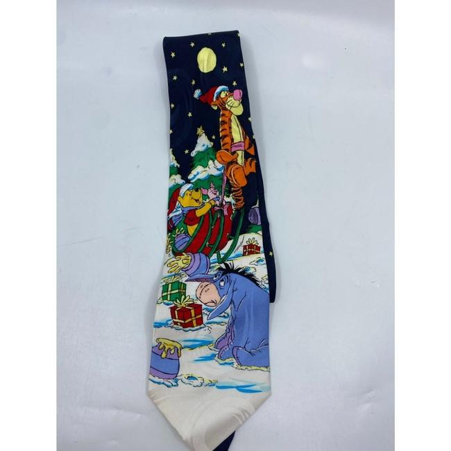 Item - Blue White Red Green New Winnie The Pooh Christmas Theme Neck Tie/Bowtie