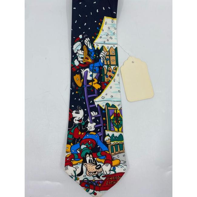 Item - Blue White Red New Mickey and Friends Christmas Theme Neck Tie/Bowtie