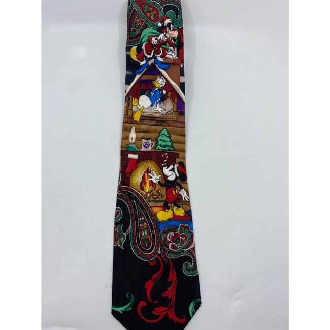 Item - Black Red Yellow New Mickey and Friends Christmas Theme Neck Tie/Bowtie