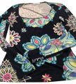 Emilio Pucci Top navy, purple, pink and yellow
