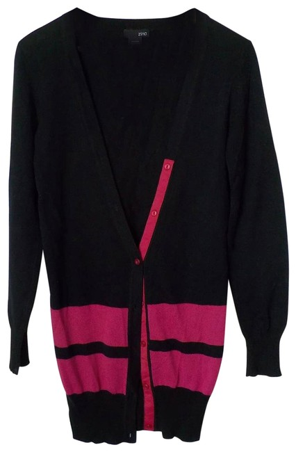 Item - Black Long Sweater Small Pink Cardigan Size 6 (S)