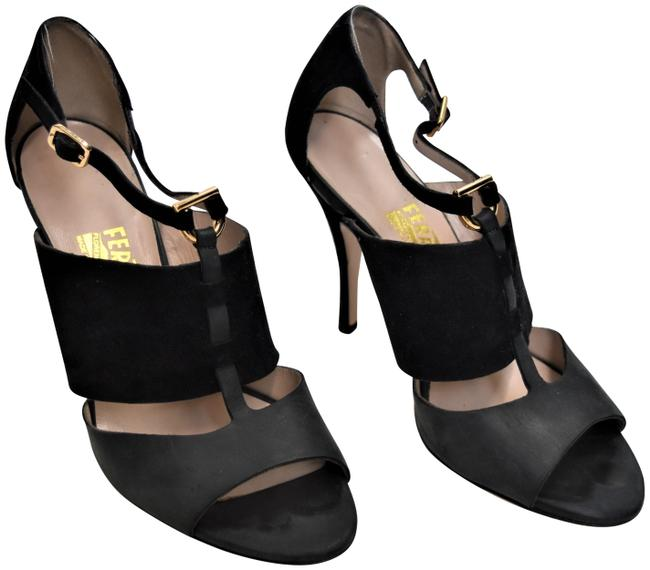 Item - Black & Gray Suede Heels Pumps Size US 8 Regular (M, B)