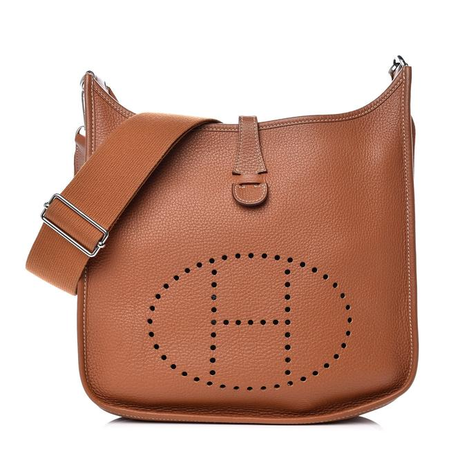 Item - Evelyne Taurillon Iii 29 Hardware 8her128 Gold X Silver Clemence Leather Satchel