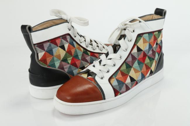 Item - Multicolor Lou Spikes Mens Flat Suede Leather High Top Sneake Shoes