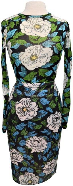 Item - Black Green & Blue Floral Two-piece Set Small Short Casual Dress Size 4 (S)