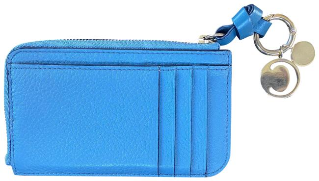 Item - Slate Blue Key Pouch With Card Slots Wallet