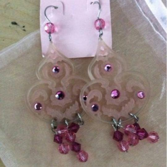 Other Tarina Tarantino classic pink chandelier earrings