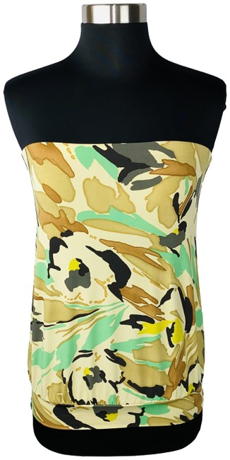 Item - Multicolor Abstract Camouflage Tube Blouse Size 0 (XS)