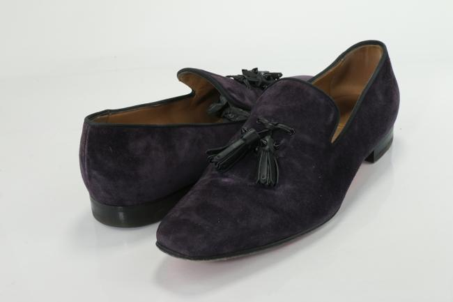 Item - Purple Suede Dandelion Tassel Shoes