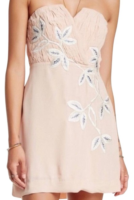Item - Pink Silver Shadow Floral Short Cocktail Dress Size 6 (S)