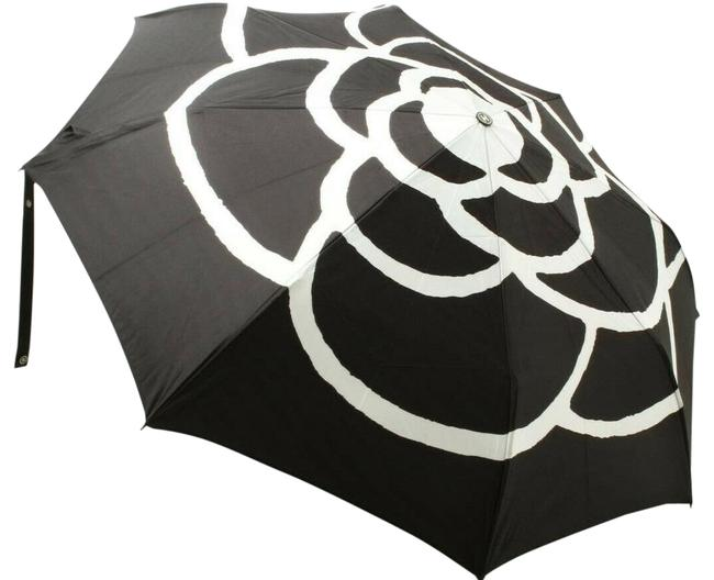Item - Black/White Vintage Camelia Flower Print Umbrella