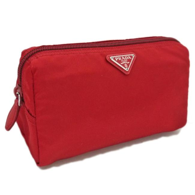 Item - Red Triangle Logo Medium Zip Around Toiletry Case 1na693 Cosmetic Bag