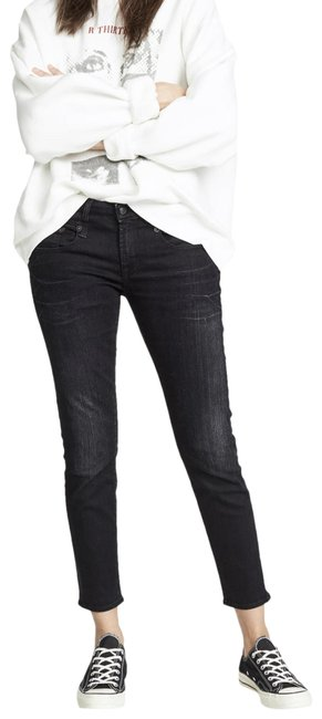 Item - Black Dark Rinse Boy Skinny Jeans Size 26 (2, XS)
