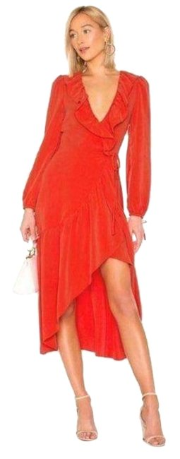 Item - Red Stevie Wrap Mid-length Night Out Dress Size 00 (XXS)
