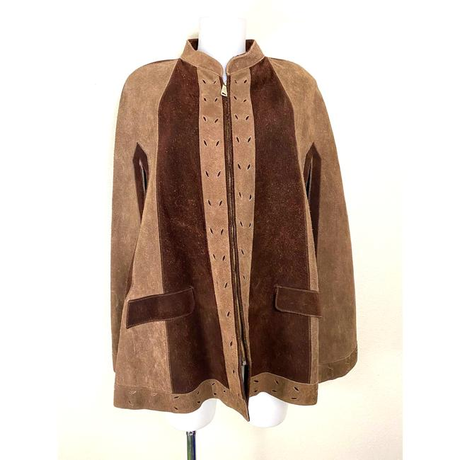 Item - Brown 1970's Suede Zipper Front Small and Tan Poncho/Cape Size 4 (S)
