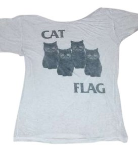 Coco De Coeur Black Flag Cats Cat Flag T Shirt White