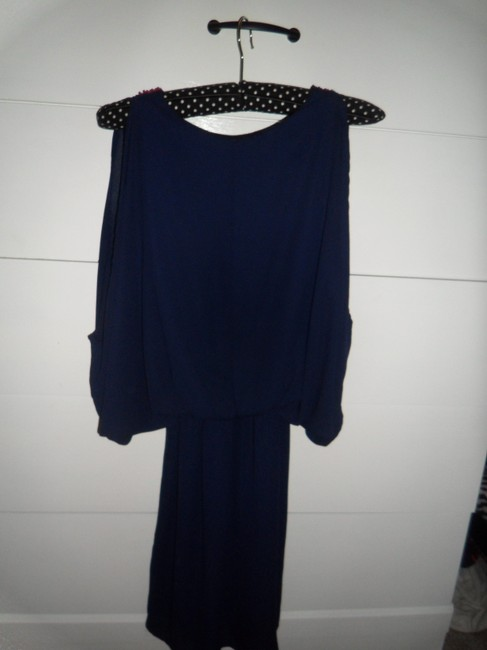 Other short dress Navy Blue with Pink Details on Tradesy