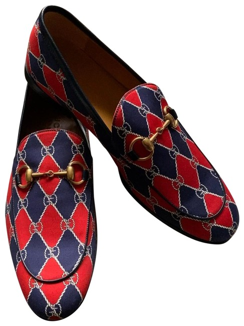 Item - Red Horsebit King Men's Loafers Rhombus Blue Flats Size US 8 Regular (M, B)