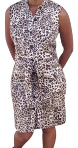 Nina Leonard short dress Animal print on Tradesy