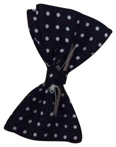 Other navy polka dot bow tie