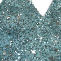 basix black label Turquoise Sequined Tiered Tulle Gown Long Formal Dress Size 6 (S) basix black label Turquoise Sequined Tiered Tulle Gown Long Formal Dress Size 6 (S) Image 9