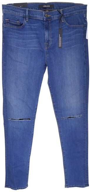 "Item - Blue Distressed Mid-rise 11"" Leg Opening In Code Destroyed Skinny Jeans Size 31 (6, M)"