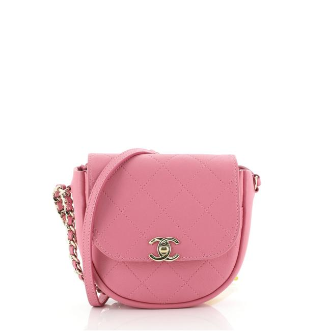 Item - Casual Trip Quilted Lambskin Mini Pink Leather Messenger Bag