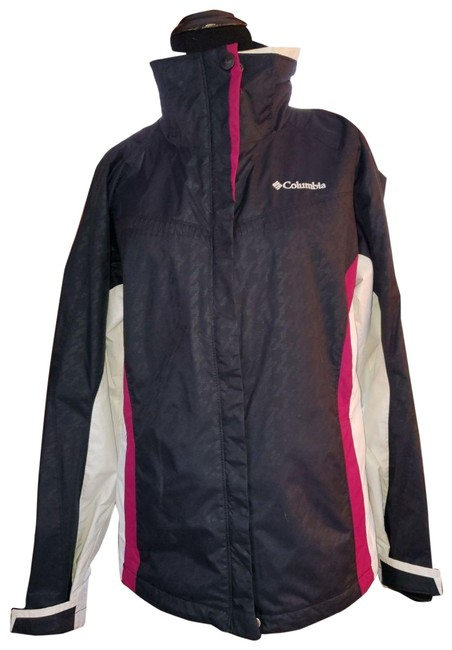 Item - Blue/Magenta/White Rain Jacket/Windbreaker Activewear Size 8 (M)