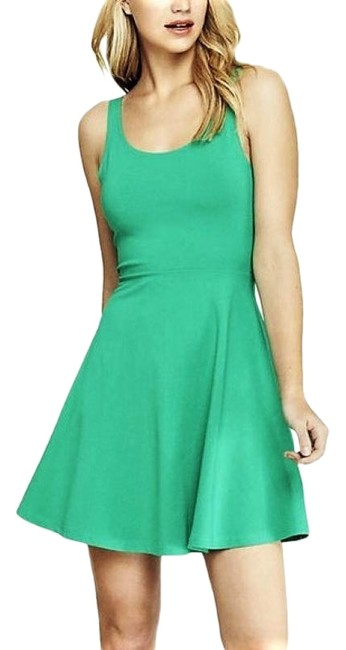 Item - Emerald Green XS Fit and Flare Skater Mini Short Casual Dress Size 2 (XS)