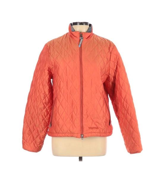 Item - Orange Primaloft Insulated Quilted Jacket Activewear Size 12 (L)