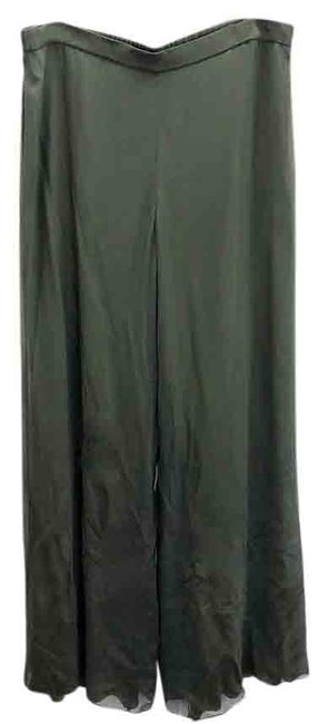 Item - Green Silk Georgette Pants Size 16 (XL, Plus 0x)
