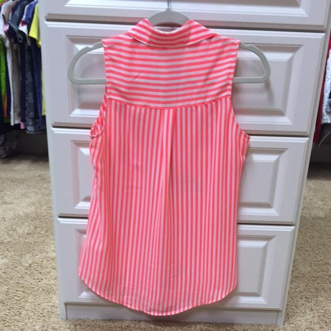 Express Top Neon Orange & White