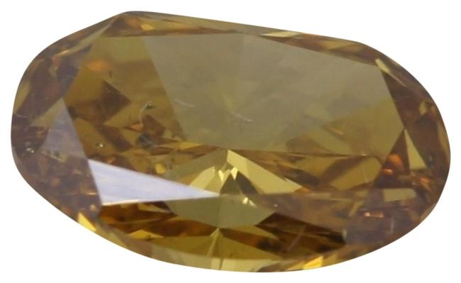 Item - Yellow Oval Loose Diamond (0.81 Ct Orange Si2 ) Gia C41000025