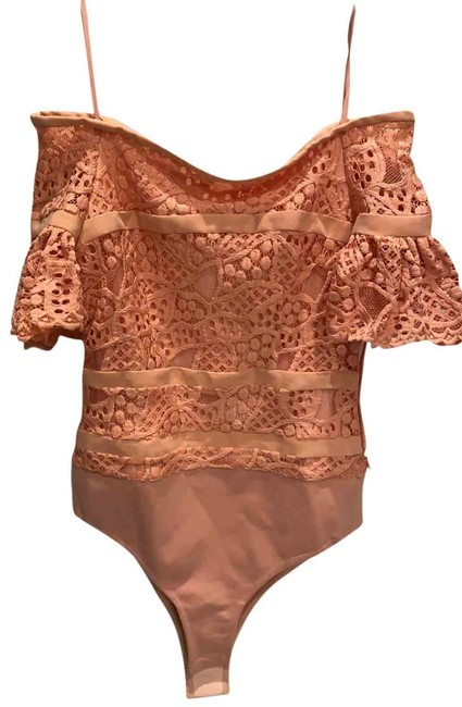 Item - Peach/Pink Collection Body Suit Blouse Size 2 (XS)