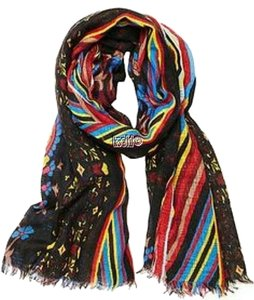 Betsey Johnson Betsey Johnson Boheme Black Multi-color Scarf