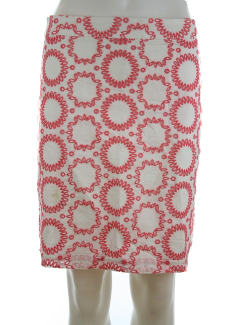Item - Pink & White Milly Collection Eyelet Skirt Size 8 (M, 29, 30)